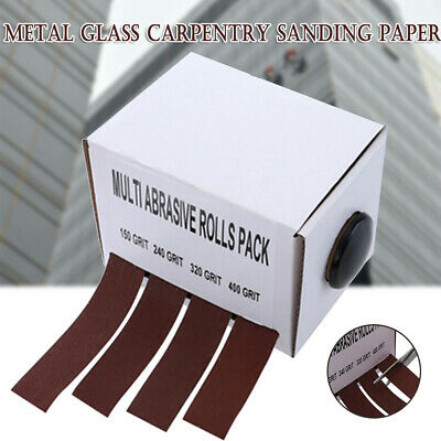 1Box Abrasive Paper with Dispenser Drawable Emery Cloth Carpentry Sand Paper