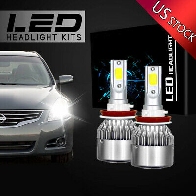 4Side H11 LED Headlight Bulb for Nissan Altima 07-15 //Maxima 09-14 High Low Beam