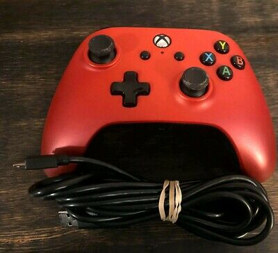 Power A Xbox One Controller, Crimson With Wire