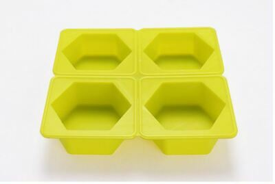 Silicone Hexagon 4 balls  soap Mould plaster Mold
