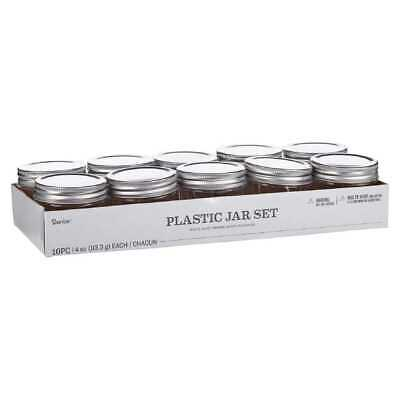 NEW Darice Plastic Mason Jars With Lid By Spotlight