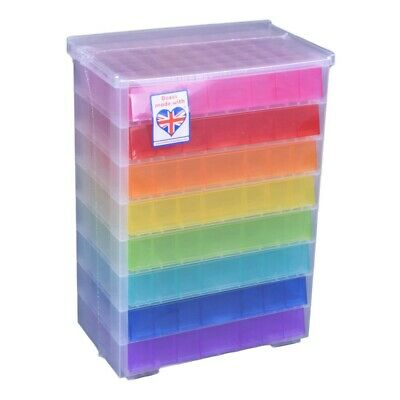 NEW Really Useful Box Bead Storage With 8 Drawers By Spotlight