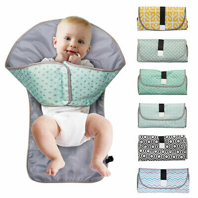 Portable Foldable Baby Changing Mat Waterproof Travel Nappy Diaper Change Pad UK