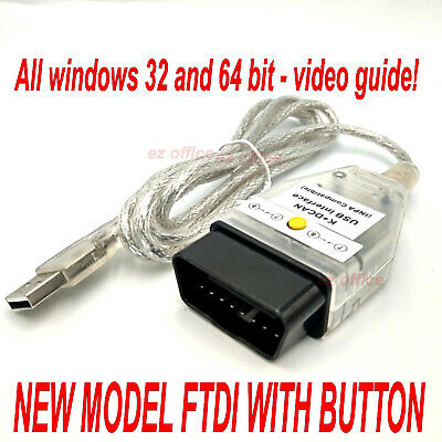 INPA K + Dcan Diagnostic Cable Switched Fits BMW 1998 to 2008 OBD fault codes