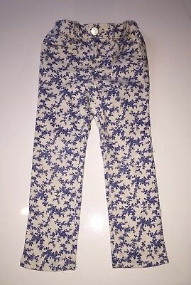 Cute Blue Floral Print Girls Jeans, Baby Gap, Age 3 Years