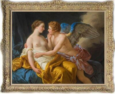 """Hand Painted Old Master-Art Antique Oil Painting Portrait angel on canvas 30x40"""""""