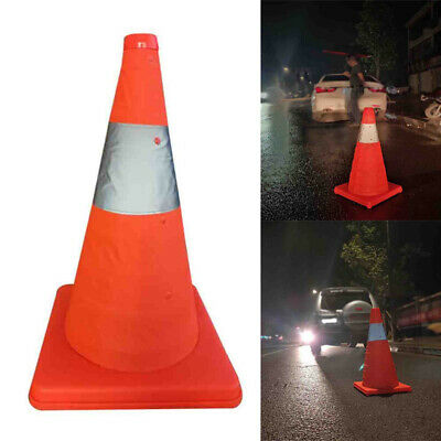 Telescopic Safety Sign Safety Warning Emergency Reflective Road Cone 30-65CM