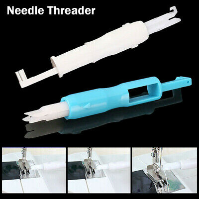 Needle Threader Insertion Applicator Handle Thread Sewing Machine Tool Practical