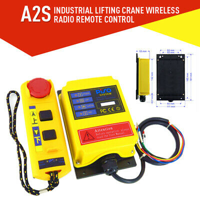 Industrial Lifting Crane Wireless Radio Remote Control Transmitter Receiver A2S