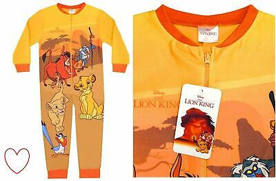 Boys Childrens Lion King Fleece All in One Sleepsuit 1onesie