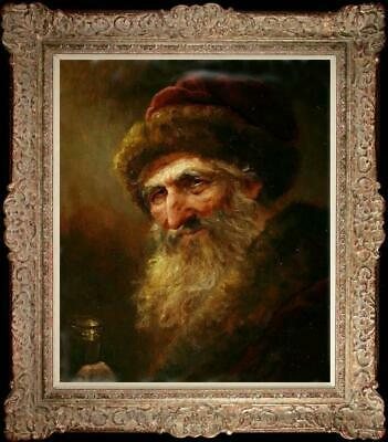"""Hand-painted Old Master-Art Oil painting Portrait old man on Canvas 20""""X24"""""""