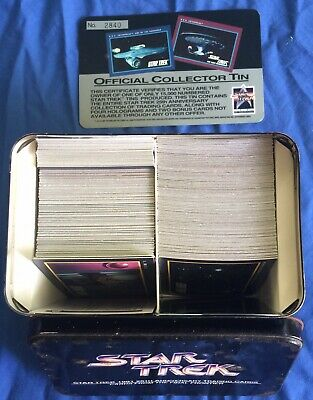 STAR TREK 1991 25th ANNIVERSARY OFFICIAL COLLECTOR TIN x 316 TRADING CARDS – THE