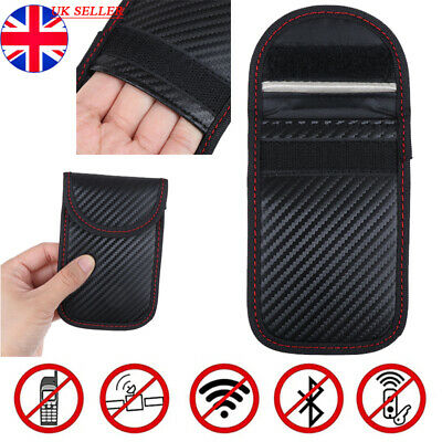 Car Key Signal Blocker Case Pouch Bag Black /Faraday Cage Keyless RFID Blocking