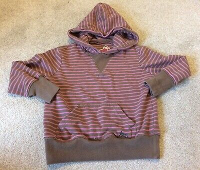 Girl's JOULES Jumper Hoodie Hooded Top Striped Age 4 Years Preloved Used