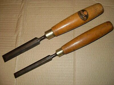 """2 x Marples Bevel Edged Chisels 1/2"""" & 3/4"""" - As Seen"""