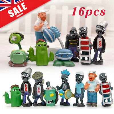16PCS Plants vs Zombies Series Game Role Mini Figures Display Toy PVC Dolls