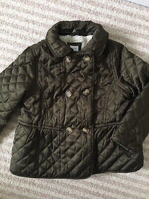 Girls GAP Quilted Jacket Coat Age 4 Fleece Lined Trotters Princess Charlotte