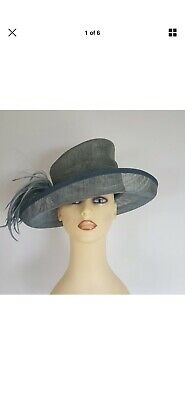 Ladies Wedding Hat Races Mother Bride Sage Green Side Feather Balfour England
