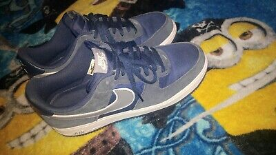 NIKE AIR FORCE 1 SIZE 12 MENS midnight navy suede cool grey