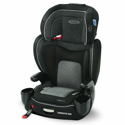 Graco TurboBooster Grow High Back Booster Car Seat West Point Gray