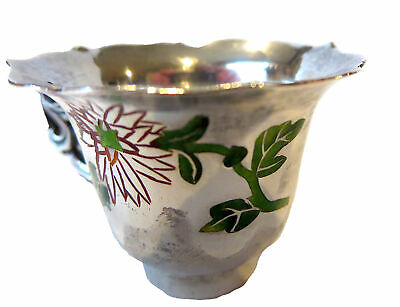 SILVER And ENAMEL CHINESE Antique CUP Signed