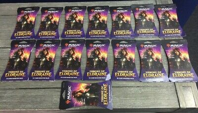 MTG Magic the Gathering THRONE of ELDRAINE LOT of 15 SEALED Booster PACKS
