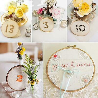 Bamboo Embroidery Cross Stitch Tapestry Ring Hoop Wooden Round Frame DIY Tool