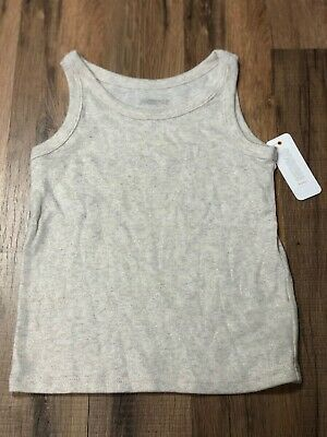 Gymboree Baby Toddler Girl Shimmer Off White Tank Top NWT