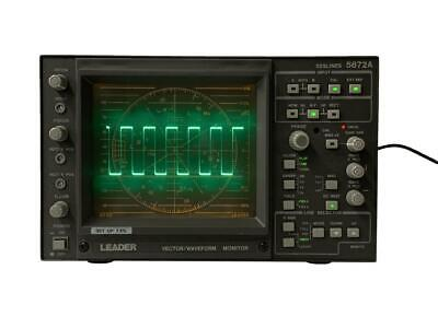Leader 5872A Combination Waveform Monitor/Vectorscope, Composite Inputs