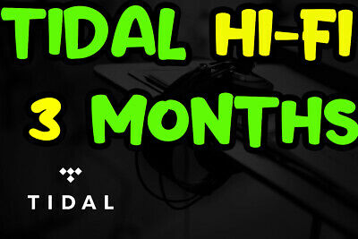 🎧TIDAL Hi-Fi 3 months FAMILYPlan +5 users | GUARANTED | FAST DELIVERY | MUSIC