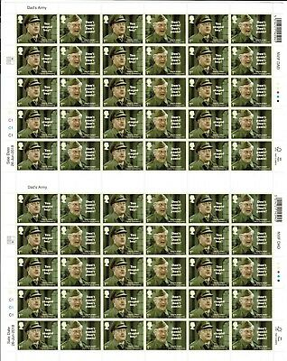 2018 DADS ARMY Complete Sheet 60 x 1st Class Stamps SG 4101 & 4102 NHM