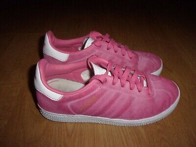 Adidas Originals Gazelle Pink Suede girls trainers size 13