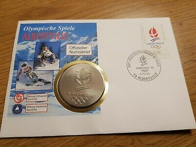 Albertville 1992 Olympic Medal Coin Excellent Condition Coin Switzerland