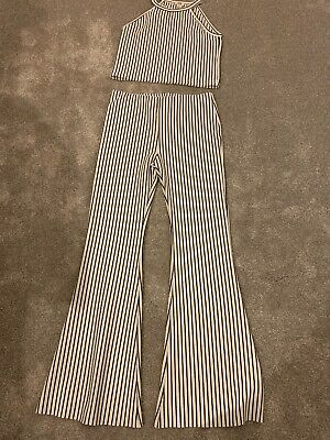 Girls River Island Set, Boot Leg Trousers And Top Age 9-10