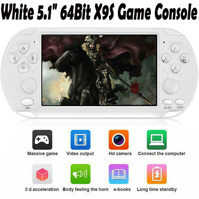 """X9-S Portable 5.1"""" 8GB 64Bit Video MP4 Player Camera Handheld Game Console UK"""