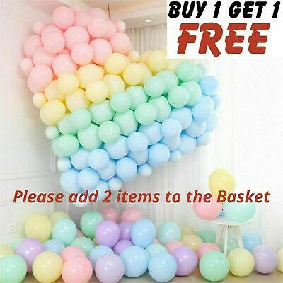 """10"""" inch Quality Macaron Pastel balloons Round Latex Choose Colour baloons 10-50"""