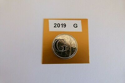 """a-z 10p Coin. Letter """"G"""". 2019. Uncirculated from sealed bag. Greenwich Meridian"""
