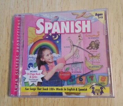 CD-ROM Spanish Language Lessons Fun Songs English Instruction Foreign Ages 5-12