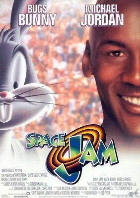 SPACE JAM MOVIE POSTER 1 Sided RARE ORIGINAL Rolled 27x40 MICHAEL JORDAN