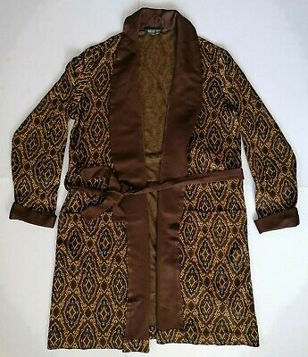 Mens Vintage Art Deco Style Dressing Gown Smoking Jacket St Michael M&S