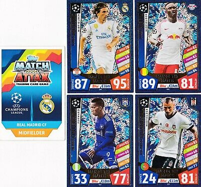9 X Man Of The Match, Topps Match Attax 2017-18 Champions League Cards.