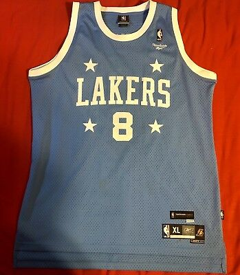 Vintage Kobe Bryant #8 Los Angeles Lakers Reebok Throwback Jersey Sewn Mens XL