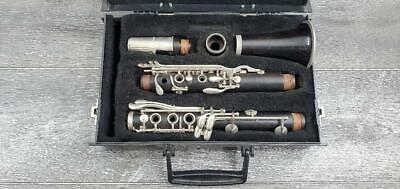 Normandy 4 Wood Clarinet W/ Case And Noblet Mouthpiece Pre-Owned