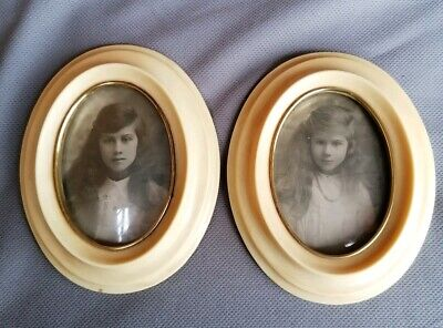 Pair Antique Oval Picture/Photo Frames