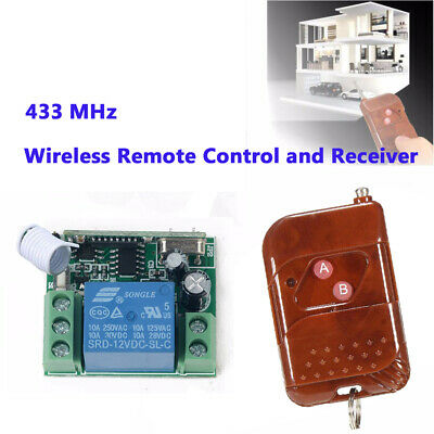 433Mhz RF Relay Switch Receiver Module Transmitter Wireless Remote Control