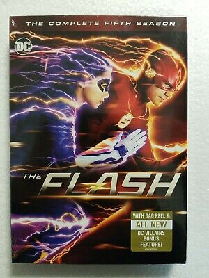 The Flash: The Complete Fifth Season 5 (DVD, 2019, 5-Disc set) NEW SEALED
