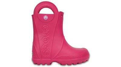NEW GENUINE: Crocs Kids Handle It Rain Boot Candy Pink