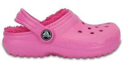 NEW GENUINE: Crocs Kids Fuzz Lined Clog Party Pink Candy Pink