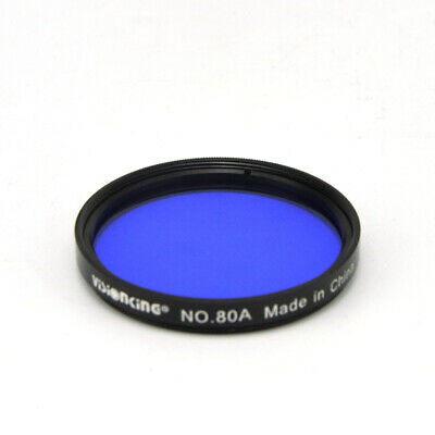 Visionking 2 Inch 80A Blue Filter Glass Astronomical Telescope Eyepiece Lens