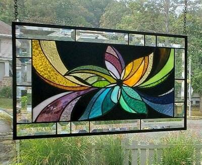 **SHOOTING STAR** Stained Glass Window Panel(Signed and Dated)